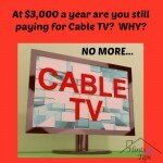 Do you need a part-time job or could you just give up Cable TV?