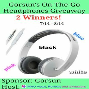 Gorsun's On-The-Go Headphones Giveaway ends 8/14 #Gorsun