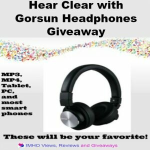 Hear Clear with Gorsun Headphones Giveaway ends 8/15