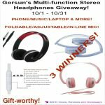 Gorsun's Multi-function Stereo Headphones Giveaway