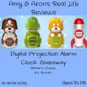 Digital Projection Alarm Clock Giveaway ends 11/03