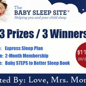 The Baby Sleep Site Giveaway! 3 Prizes / 3 Winners! Perfect for Daylight Savings Time ends 11/1