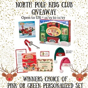 North Pole Kids Club Giveaway ends 11/27