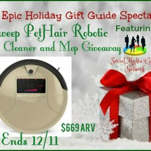 bObsweep PetHair Robotic Vacuum Cleaner and Mop Giveaway ends 12/11 @las930 @bObsweep #SMGN