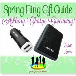 Spring Fling Gift Guide Askborg Charge Giveaway http://www.hintsandtipsblog.com
