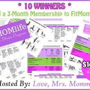 FitMomLife 3-Month Membership Giveaway http://www.hintsandtipsblog.com