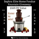 Sephra Elite Home Fondue Fountain Giveaway http://www.hintsandtipsblog.com