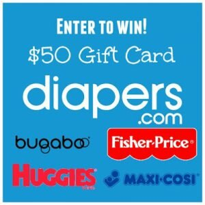 $50 Diapers.com gift card giveaway ends 9/30