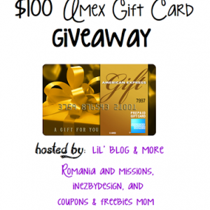 $100 American Express Gift Card giveaway ends 11/10