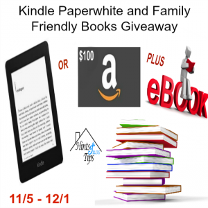 Kindle Paperwhite (or $100 Amazon Gift Card) and Family Friendly Books Giveaway ends 12-1