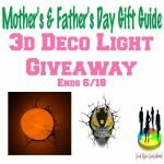 3d Deco Light Giveaway http://www.hintsandtipsblog.com