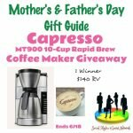 Capresso MT900 10-Cup Rapid Brew Coffee Maker Giveaway http://www.hintsandtipsblog.com